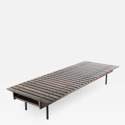 OCA MId Century Modern Slatted Bench by OCA Brazil 1950s