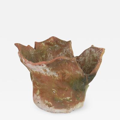 Oak Design Studios MAHONIA One of a kind glazed terracotta garden pot