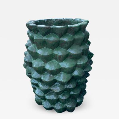Oak Design Studios PALMAE GRASSGREEN Enameled terracotta garden pot
