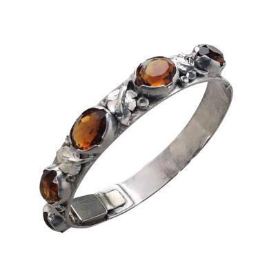 Oakes Studio Oakes Bracelet Sterling Silver Citrines