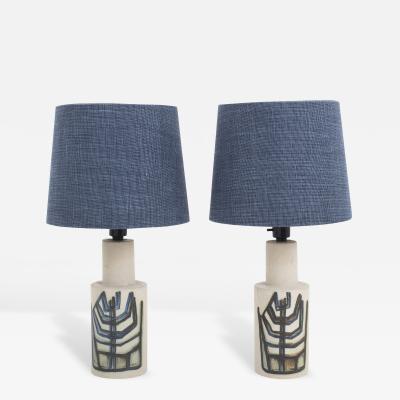 Okela Stoneware Denmark Table Lamps in Stoneware