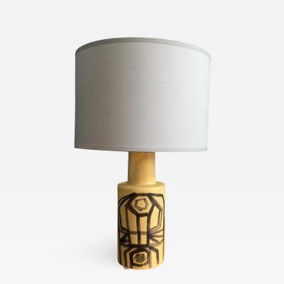 Okela Stoneware Denmark Vintage Danish Ceramic Table Lamp by Okela 1970s