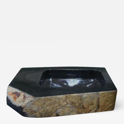 Okurayama Studio Sculptural Wash Basin Dat Kan Stone Design by Okurayama