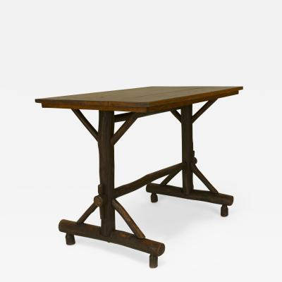 Old Hickory Furniture Co American Rustic Old Hickory Davenport Form Rectangular Table