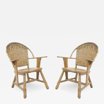 Old Hickory Furniture Co Set of 6 Old Hickory Ash Wood Dining Chairs