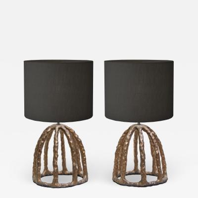 Olivia Barry By Hand Tivoli Ceramic Lamp Pair