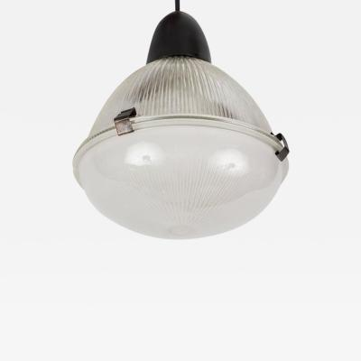 Oluce 1960s Italian Glass and Metal Pendant for Oluce