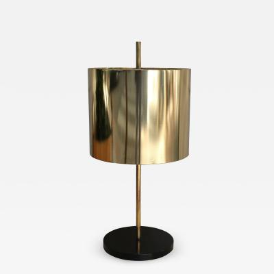 Oluce A gilded brass table lamp by Oluce Italy 60
