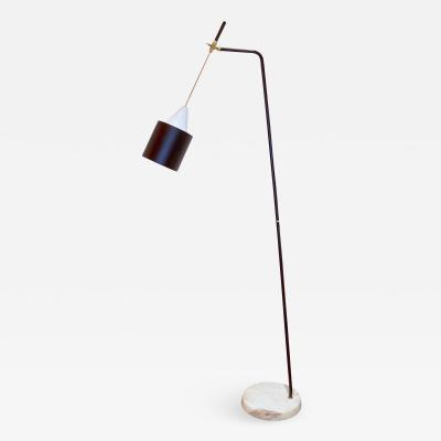 Oluce Adjustable Floor Lamp by O Luce Italy 1950s