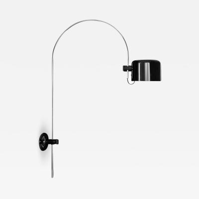 Oluce Large Joe Colombo Model 1158 Coup Wall Lamp in Black for Oluce