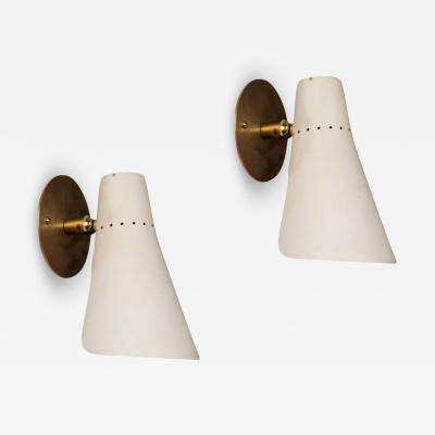 Oluce Pair of 1950s Giuseppe Ostuni Articulating Sconces for O Luce