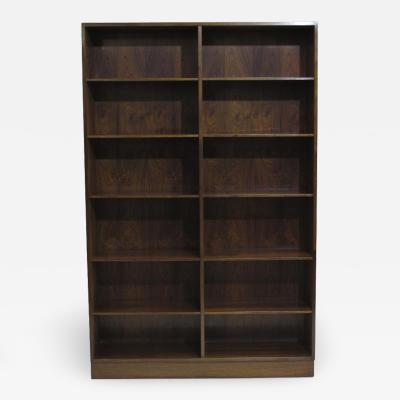 Omann Jun M belfabrik A S Pair of Danish Rosewood Bookcases by Omann Jun
