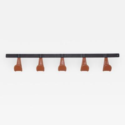 Orange Furniture Atelier Iron and Leather Coat Rack