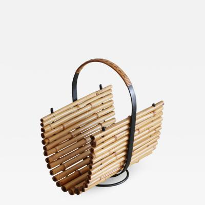 Orange Furniture Bamboo Magazine Holder