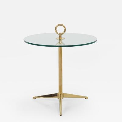 Orange Furniture Brass Tripod Side Table