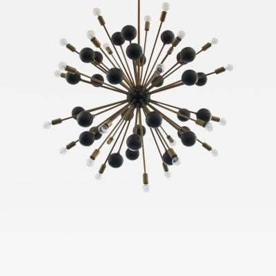 Orange Furniture Large Brass Ball Sputnik Chandelier