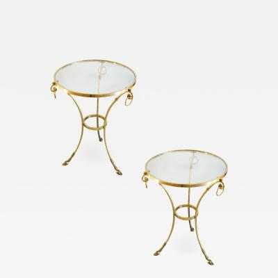 Orlandi 2 Brass and Glass Tables by Orlandi Italia
