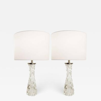 Orrefors Carl Fagerlund Orrefors Crystal Lamps