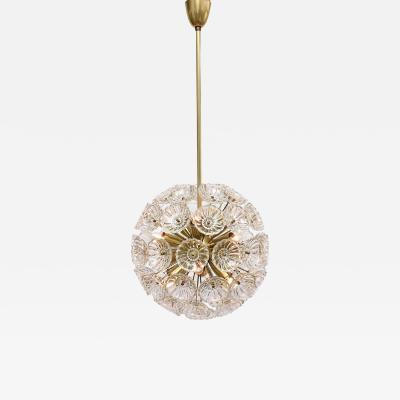 Orrefors Carl Fagerlund mid century floral sputnik chandelier