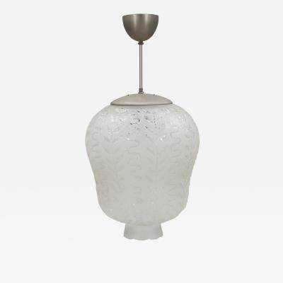 Orrefors Exquisite Modern Funkis Hanging Pendant in Cut Crystal by Orrefors