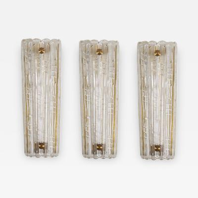 Orrefors Large Swedish Midcentury Wall Lamps Sconces by Carl Fagerlund for Orrefors