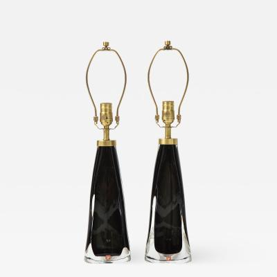 Orrefors Orrefors Black Crystal Encased Lamps