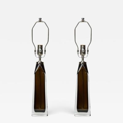 Orrefors Orrefors Dark Olive Crystal Lamps