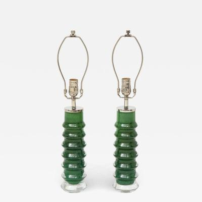 Orrefors Orrefors Emerald Green Crystal Lamps