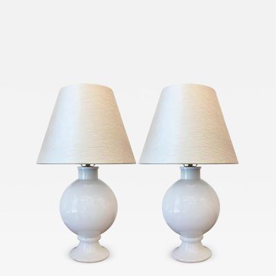 Orrefors Pair of Orrefors 1970s Swedish Glass Table Lamps