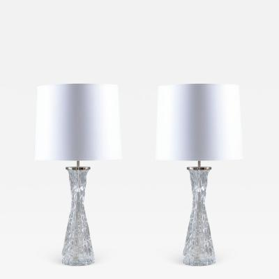 Orrefors Swedish Midcentury Table Lamps by Carl Fagerlund for Orrefors