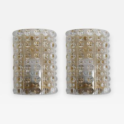 Orrefors Swedish Midcentury Wall lamps Sconces by Carl Fagerlund for Orrefors