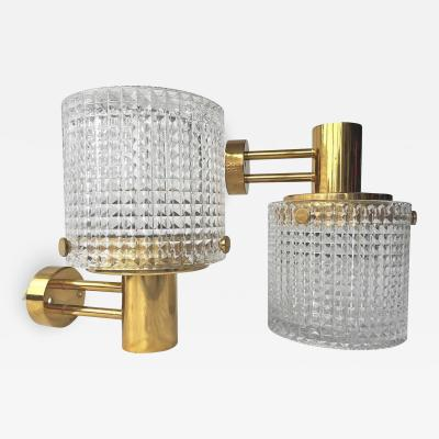 Orrefors Up or Down Mounted Wall Lights Orrefors Attributed