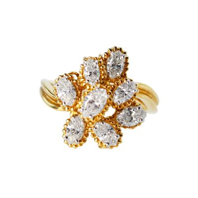 Oscar Heyman Brothers 18 Karat Gold Platinum and Diamond Ring by Oscar Heyman Brothers