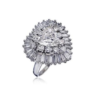 Oscar Heyman Brothers OSCAR HEYMAN 1 82 CARAT TRILLIAN DIAMOND J SI2 GIA RING