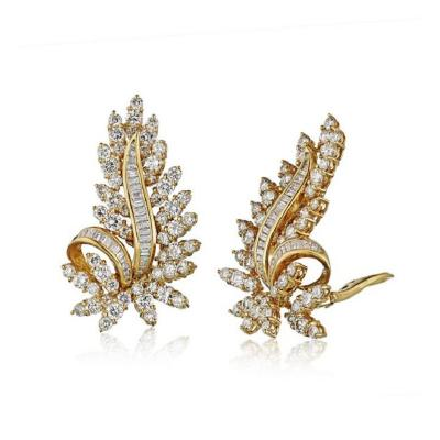 Oscar Heyman Brothers OSCAR HEYMAN 18K YELLOW GOLD 8 50CTS LEAF EARRINGS