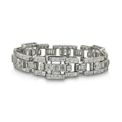 Oscar Heyman Brothers OSCAR HEYMAN PLATINUM 30 63 CARAT DIAMOND LINE BRACELET