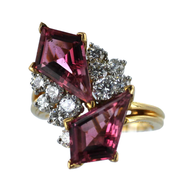 Oscar Heyman Brothers OSCAR HEYMAN Pink Tourmaline and Diamond Ring