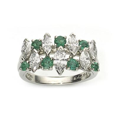 Oscar Heyman Brothers Oscar Heyman Emerald Diamond Platinum Ring