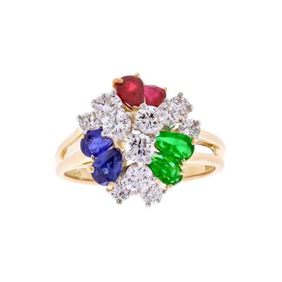 Oscar Heyman Brothers Oscar Heyman Precious Gem Diamond Gold Platinum Ring