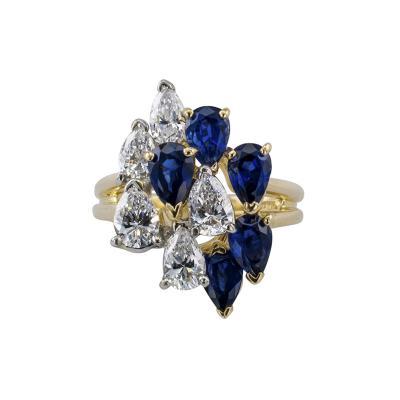 Oscar Heyman Brothers Oscar Heyman Sapphire and Diamond Cocktail Ring
