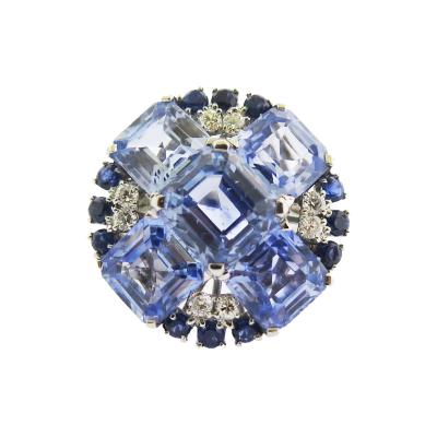 Oscar Heyman Brothers Oscar Heyman Sapphire and Diamond Platinum Cocktail Ring