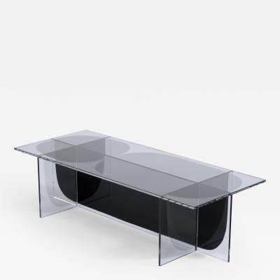 Oskar Peet Sophie Mensen Glass Bipolar Coffee Table by Oskar Peet and Sophie Mensen