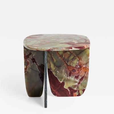 Oskar Peet Sophie Mensen Red Green Onyx Coffee Table by Oskar Peet and Sophie Mensen