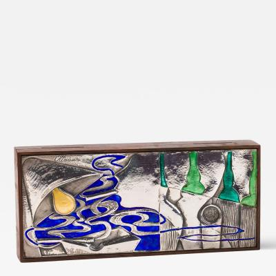 Ottaviani Silver and Enamel Box