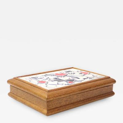 Ottaviani Silver and enamel card box by Ottaviani Italy