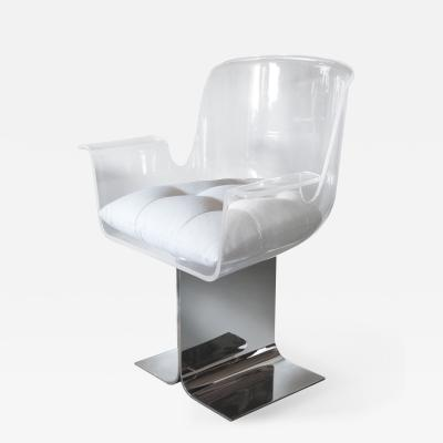 Pace Collection Acrylic Chair with Swiveling Seat