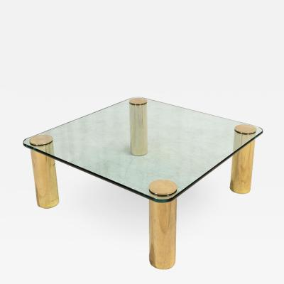 Pace Collection Brass and Glass Coffee Table by Pace