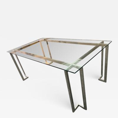 Pace Collection MODERNIST SQUARE TUBULAR DINING TABLE BY PACE