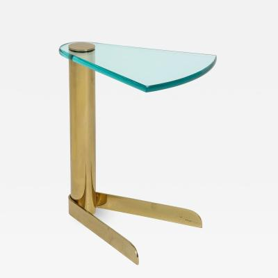 Pace Collection Pace Brass Glass Side Table