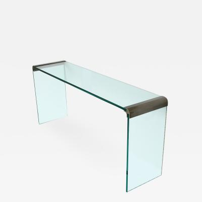 Pace Collection Pace Bronze and Glass Waterfall Console Table